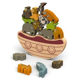 BeginAgain-Balance-Boat-Endangered-Animals-Game-and-Playset-Award-Winning-Stacking-Toys-Game-Balance-Game-with-Wooden-Toy-Animals-0