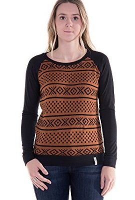 Krochet-Kids-Womens-Maya-Long-Sleeve-Top-in-BlackSepia-0