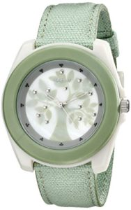 Sprout-Womens-ST2019MPLG-Light-Green-Organic-Cotton-Strap-Watch-0