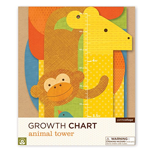 Petit Collage Paper Growth Chart Animal Tower