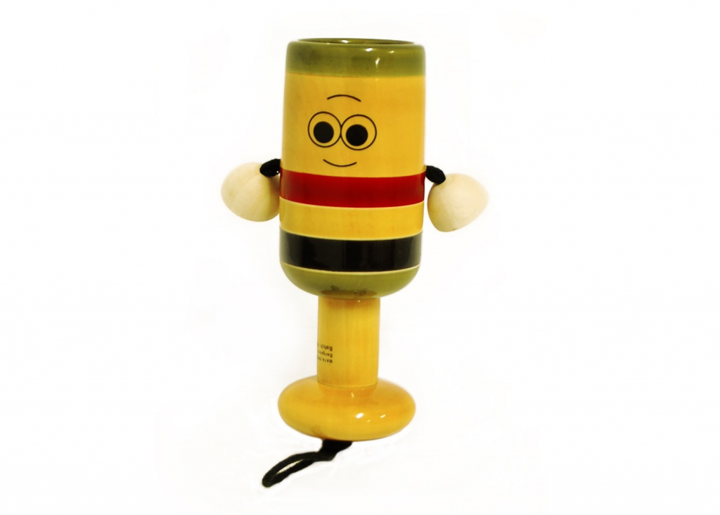 Handmade Wooden Bell Rattle Toy by Maya Organic