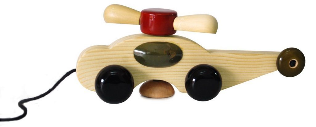 Wooden Pull Toy with Rotating Fan by Maya Organic