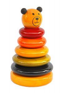 Handmade Wooden Rainbow Stacking Toy Cub by Maya Organic