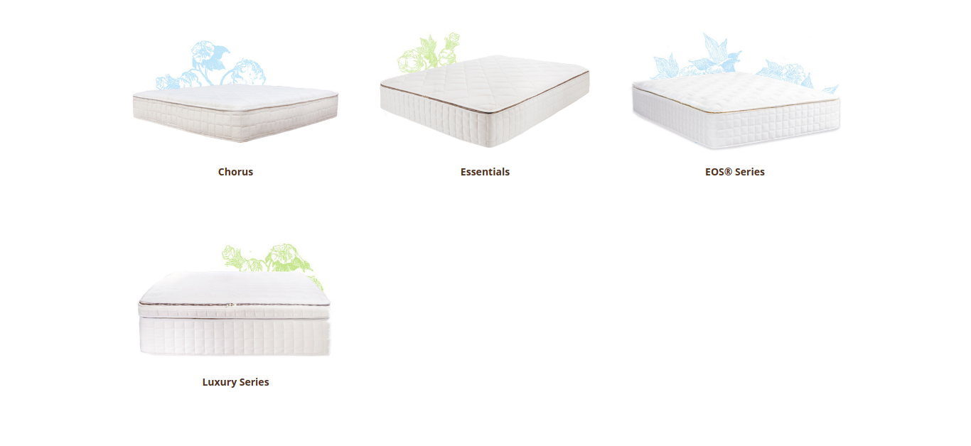 Photo of Naturepedic's types of organic mattresses