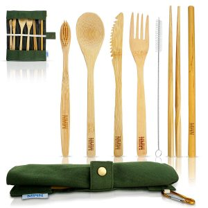 Newman Ware Bamboo eco-friendly utensil set