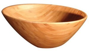 eco-friendly bamboo salad bowl