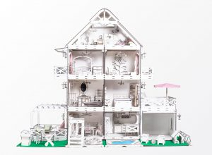 Barbie Wooden Dollhouse by Ecotoki environmentally friendly