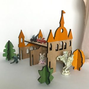 Wooden Doll Tiny House Princess Castle by Papaslon Eco-friendly dollhouse