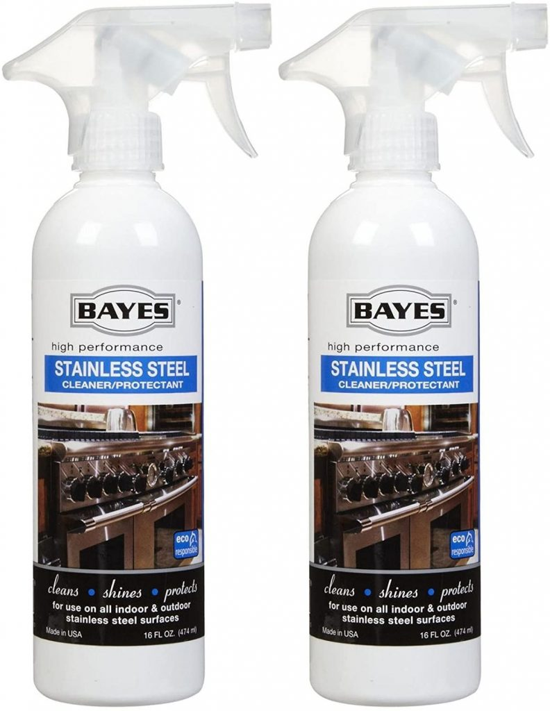 Bayes Stainless Steel Cleaner, Polish and Protectant - Eco-Friendly Cleaning Products