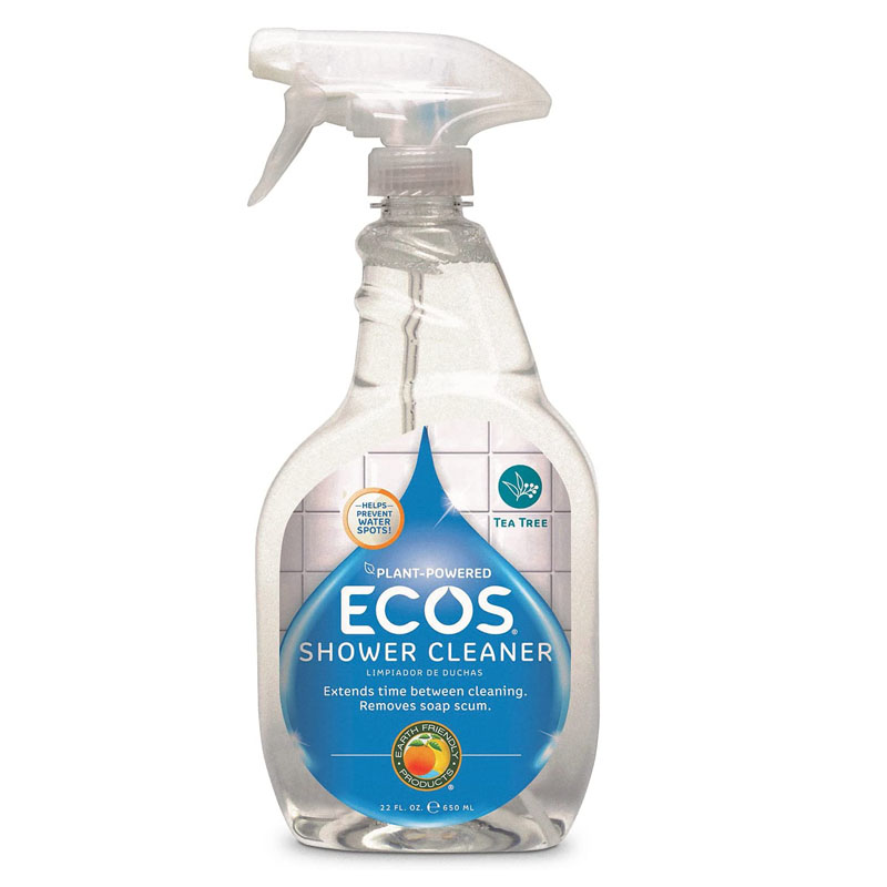 Eco-Friendly Cleaning Products - ECOS Earth Friendly Products Shower Cleaner with Tea Tree Oil